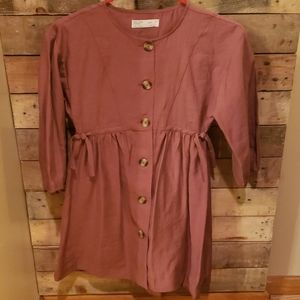 Zara girls dress Indianred color size 9